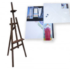 Malířský stojan sada 130 cm Inlea4Fun S130-3 - tmavohnědý Preview
