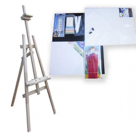 Malířský stojan sada 160 cm Inlea4Fun S160-3 - naturální