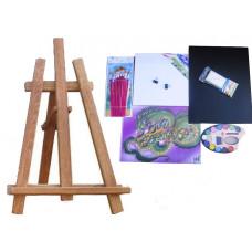 Malířský stojan stolní sada Inlea4Fun S60 WYP2 TEAK - hnědý Preview
