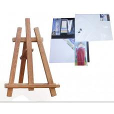 Malířský stojan stolní sada Inlea4Fun S60-3 - hnědý Preview