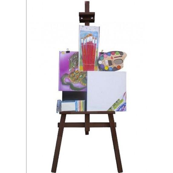 Malířský stojan sada 160 cm Inlea4Fun S160-2 - tmavohnědý