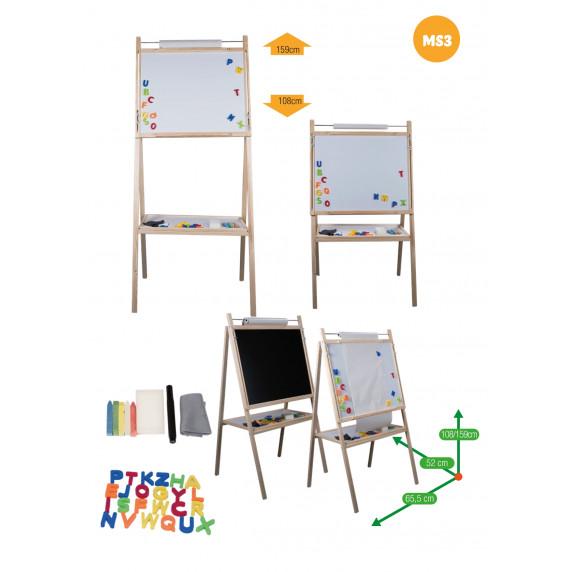 Inlea4Fun dětská otočná tabule MS3