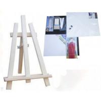 Malířský stojan stolní sada Inlea4Fun S60-3 - naturální
