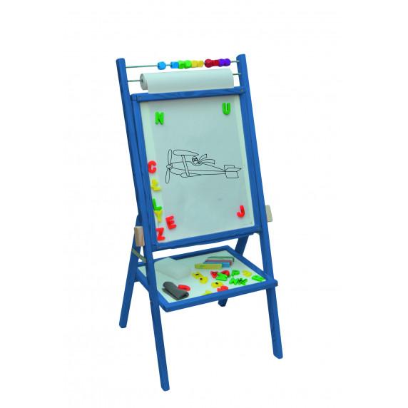 Inlea4Fun dětská oboustranná tabule -modrá