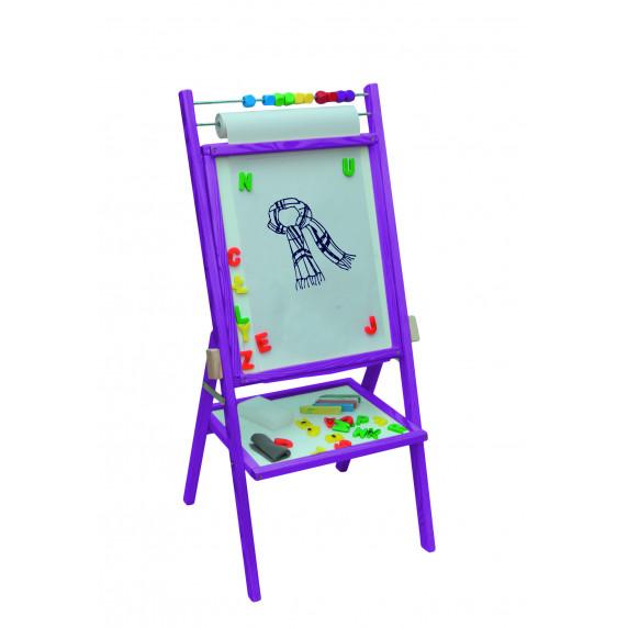 Inlea4Fun dětská oboustranná tabule -fialová