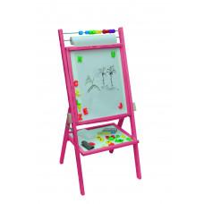 Inlea4Fun dětská oboustranná tabule -růžová Preview