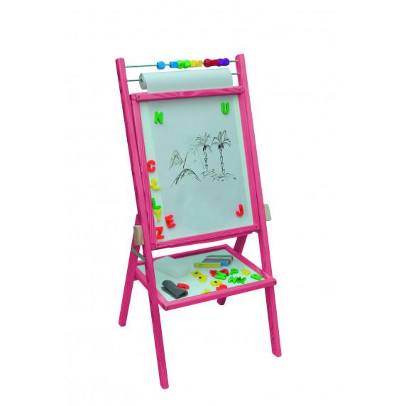 Inlea4Fun dětská oboustranná tabule -růžová