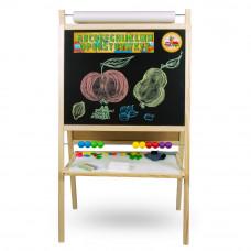 Inlea4Fun dětská magnetická tabule s počítadlem FANTASY natural Preview