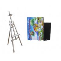 Malířský stojan sada 180 cm Inlea4Fun S180-1 - naturální