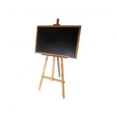 Kreslící tabule se stojanem jednostranná 180 cm Inlea4Fun - hnědá Preview