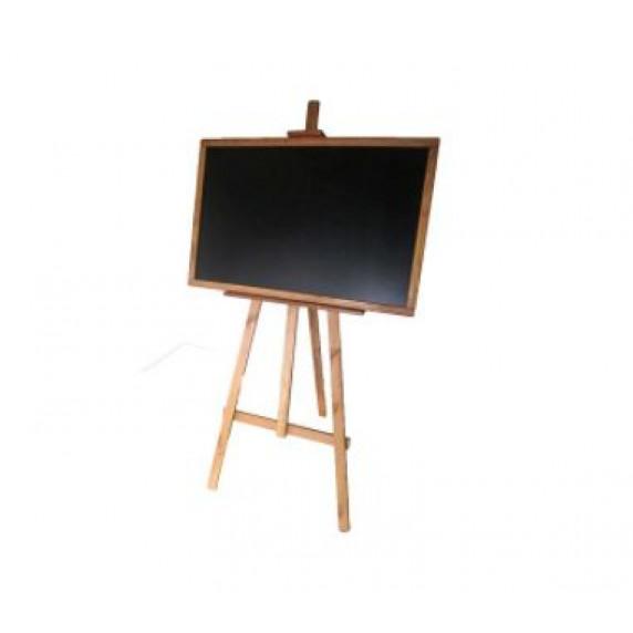 Kreslící tabule se stojanem jednostranná 180 cm Inlea4Fun - hnědá