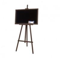 Kreslící tabule se stojanem jednostranná 180 cm Inlea4Fun - tmavohnědá