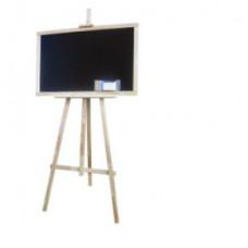 Kreslící tabule se stojanem jednostranná 180 cm Inlea4Fun - naturální Preview