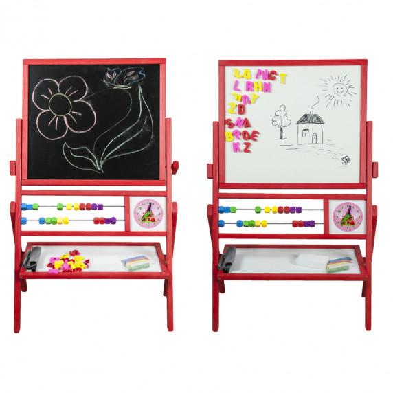 Inlea4Fun Dětská oboustranná tabule MAX červená