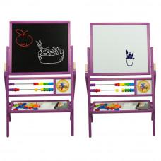 Dětská oboustranná tabule Inlea4Fun MAX fialová Preview