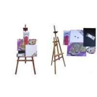 Malířský stojan sada 160 cm Inlea4Fun S160-2 - hnědý