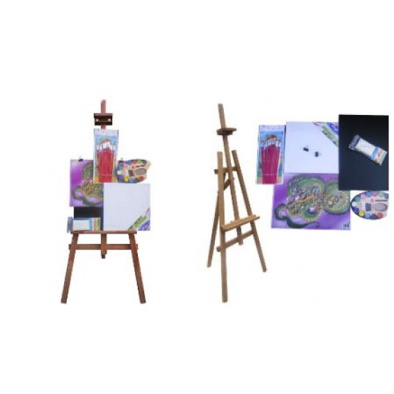 Malířský stojan sada 180 cm Inlea4Fun S180-2 - hnědý