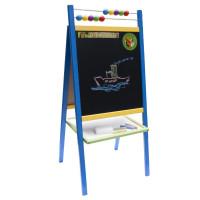 Inlea4Fun dětská oboustranná tabule ABU modrá