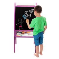 Inlea4Fun dětská oboustranná tabule TEDDY MOP - fialová