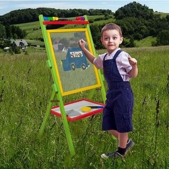 Inlea4Fun dětská tabule s bezpečnostním sklem Trixie + oboustranná deska