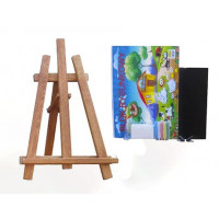 Malířský stojan stolní sada 60 cm Inlea4Fun - hnědý