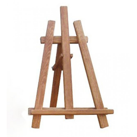 Malířský stojan stolní sada Inlea4Fun S60-3 - hnědý