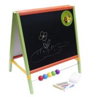 Dětská kreslící tabule Inlea4Fun TABLE stolní oboustranná - barevná