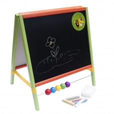 Dětská kreslící tabule Inlea4Fun TABLE stolní oboustranná - barevná Preview