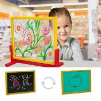 Inlea4Fun dětská tabule na stůl s bezpečnostním sklem + oboustranná deska zelená