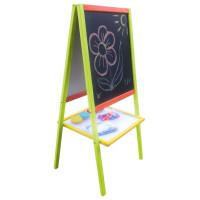 Inlea4Fun dětská magnetická oboustranná tabule Mersa - barevná