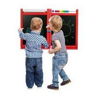 Inlea4Fun dětská magnetická školní tabule FIRST SCHOOL - červená
