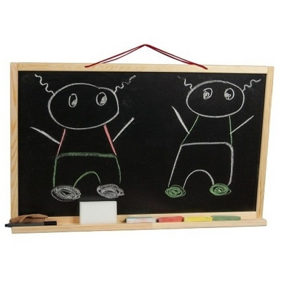 Nástěnná kreslící tabule Inlea4Fun SIMPLE ONE jednostranná - Natural