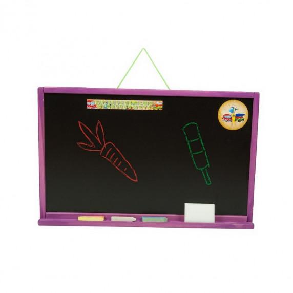 Nástěnná kreslící tabule Inlea4Fun SIMPLE ONE jednostranná - fialová