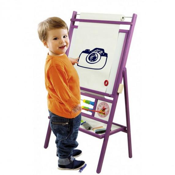 Inlea4Fun dětská oboustranná tabule BIG VIOLET