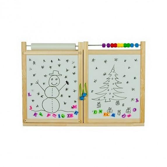 Inlea4Fun dětská magnetická školní tabule FIRST SCHOOL natural