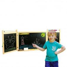 Inlea4Fun dětská magnetická školní tabule FIRST SCHOOL natural Preview