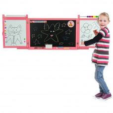 Inlea4Fun dětská magnetická školní tabule FIRST SCHOOL - růžová Preview