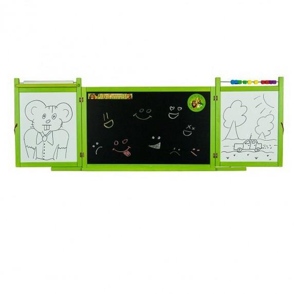 Inlea4Fun dětská magnetická školní tabule FIRST SCHOOL zelená