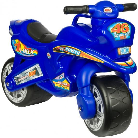 Inlea4Fun odrážedlo v podobě motorky - modrá