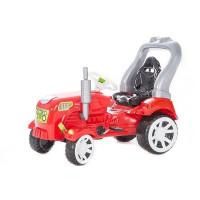 Inlea4Fun Big Farmer traktor s pedály - Červený
