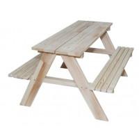 Dětská dřevěná zahradní lavice-piknikový stůl ZO Inlea4Fun