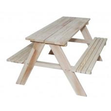 Dětská dřevěná zahradní lavice-piknikový stůl ZO Inlea4Fun Preview