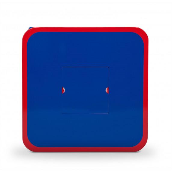 Dětský stůl s židlemi modro-červený