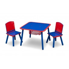 Dětský stůl s židlemi modro-červený Preview