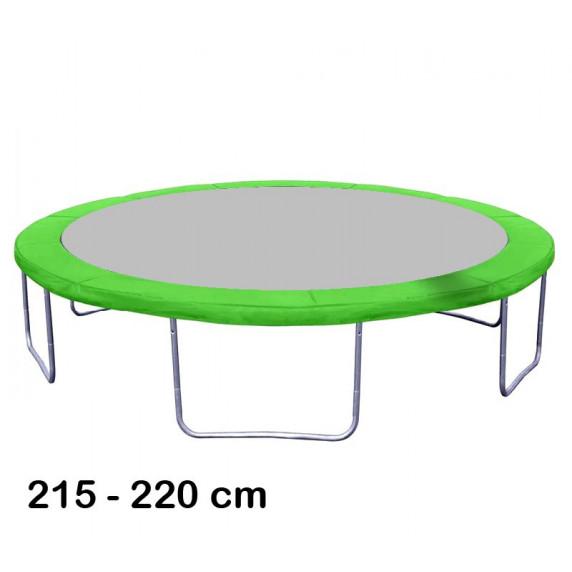 Kryt pružin na trampolínu o průměru 220 cm - světle zelený