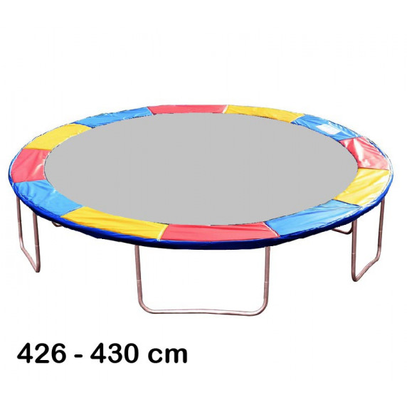 Kryt pružin na trampolínu 430 cm - tricolor