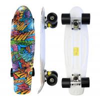 Skateboard Aga4Kids MR6009 BOOM - barevný