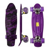 Skateboard se svítícími kolečky Aga4Kids MR6001 - fialový