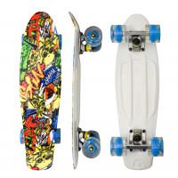 Skateboard se svítícími kolečky Aga4Kids MR6002 - grafity