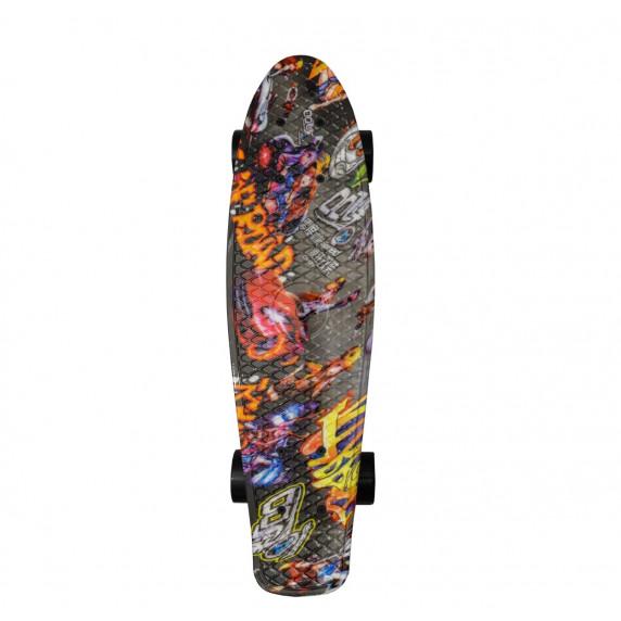 Skateboard Aga4Kids MR6005 grafity - šedé